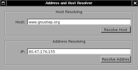 how to find host address